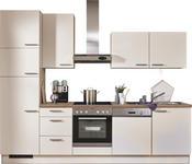 KÜCHENBLOCK E-Geräte, Spüle, Soft-Close-System   - Magnolie, KONVENTIONELL (290cm) - Xora