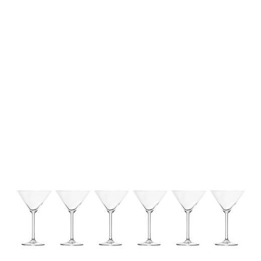 Cocktailglas-Set 6-teilig - Klar, Basics, Glas - Leonardo