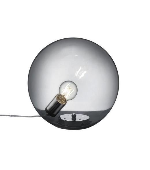 TISCHLEUCHTE - Chromfarben/Grau, Design, Glas/Metall (30cm)