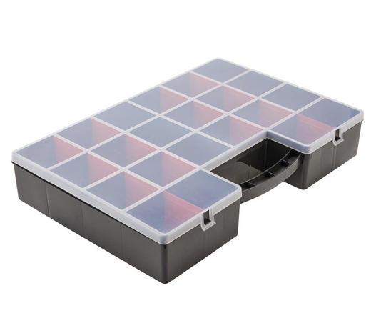 SORTIMENTSKASTEN 59/39/10 cm - Transparent/Anthrazit, Basics, Kunststoff (59/39/10cm) - Plast 1