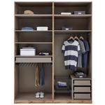 Kleiderschrank Offen 182,2cm Unit, Weiß Dekor - Weiß, MODERN, Holzwerkstoff (182,2/242,2/56,5cm) - Ombra
