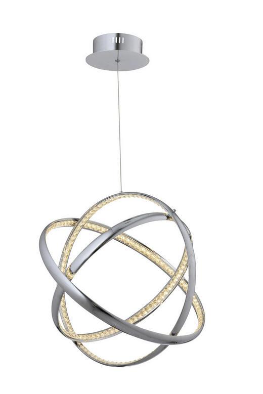LED-HÄNGELEUCHTE - Chromfarben, Design, Glas/Metall (50/150cm) - Ambiente