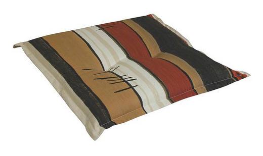 SITZKISSEN Anthrazit, Beige, Braun, Naturfarben - Anthrazit/Beige, KONVENTIONELL, Textil (50/9/50cm)