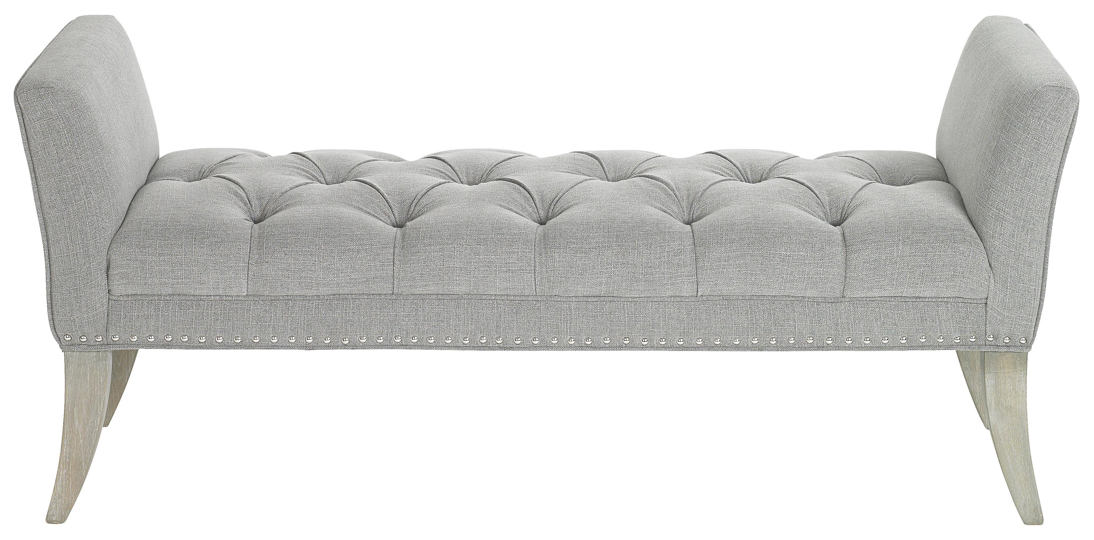 SITTBÄNK - grå, Trend, trä/textil (143/64/47cm) - Ambia Home