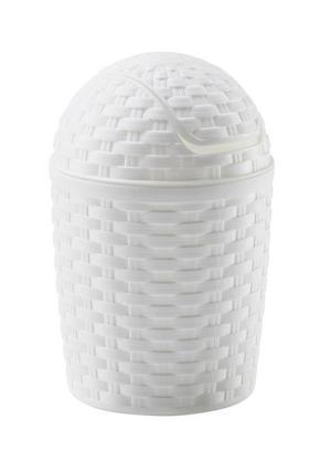 PAPPERSKORG MED VIPPLOCK - vit, Basics, plast (1,2l)