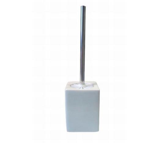 GARNITURA TOALETNE ČETKE - bijela/boje oplemenjenog čelika, Basics, metal/plastika (10/30cm) - Kleine Wolke