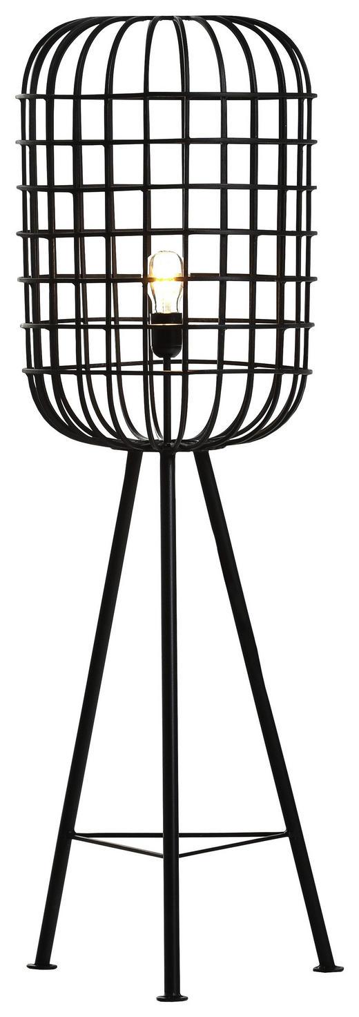 STEHLEUCHTE - Schwarz, Design, Metall (40/118cm) - Carryhome
