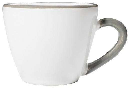 ESPRESSOTASSE 0,06 ml - Weiß/Grau, LIFESTYLE, Keramik (6,5/8,5/5,2cm) - Gmundner