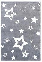 KINDERTEPPICH  Grau, Weiß  100/160 cm - Weiß/Grau, Basics, Textil (100/160cm)