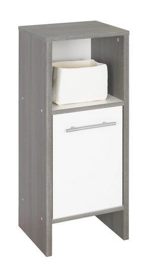 UNDERSKÅP - vit/alufärgad, Design, träbaserade material/plast (33/82/28cm) - Low Price