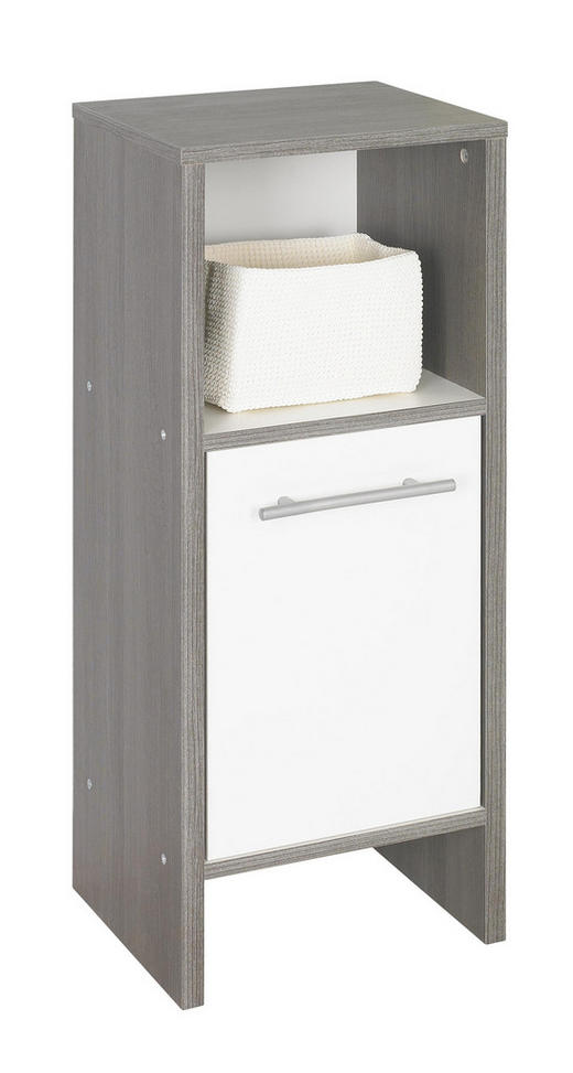 UNDERSKÅP - vit/alufärgad, Design, träbaserade material/plast (33/82/28cm) - Xora
