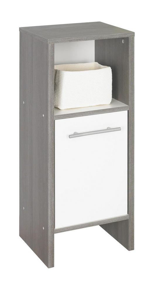 UNTERSCHRANK Weiß - Graphitfarben/Alufarben, Design, Holzwerkstoff/Kunststoff (33/82/28cm) - Xora