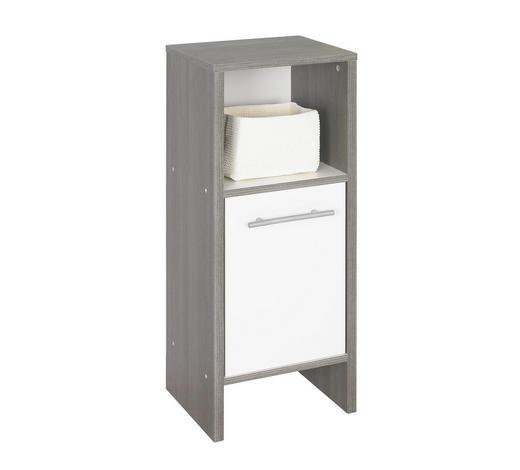 UNTERSCHRANK Weiß  - Graphitfarben/Alufarben, KONVENTIONELL, Holzwerkstoff/Kunststoff (33/82/28cm) - Xora