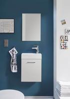 KUPAONICA - bijela, Design, drvni materijal (40/53/22cm)