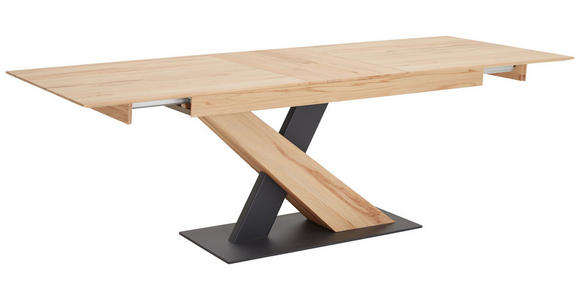 ESSTISCH Buche massiv rechteckig Anthrazit, Buchefarben  - Anthrazit/Buchefarben, Design, Holz/Metall (160/95/76cm) - Valnatura