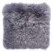 Schaffell Sitzkissen Grau 34/34 cm  - Grau, Natur, Fell (34/34cm) - Ambia Home