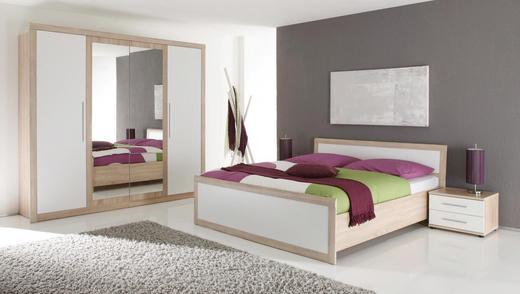 SPAVAĆA SOBA - bijela/boje hrasta, Design, drvni materijal (241/219/63cm) - BOXXX