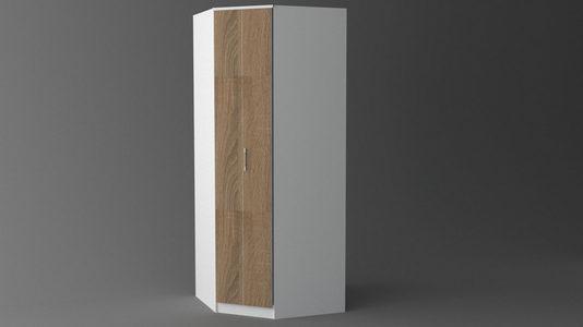 ORMAR SA HARMONIKA VRATIMA - Siva/Bela, Konvencionalno, Plastika/Pločasti materijal (89/220/88cm)
