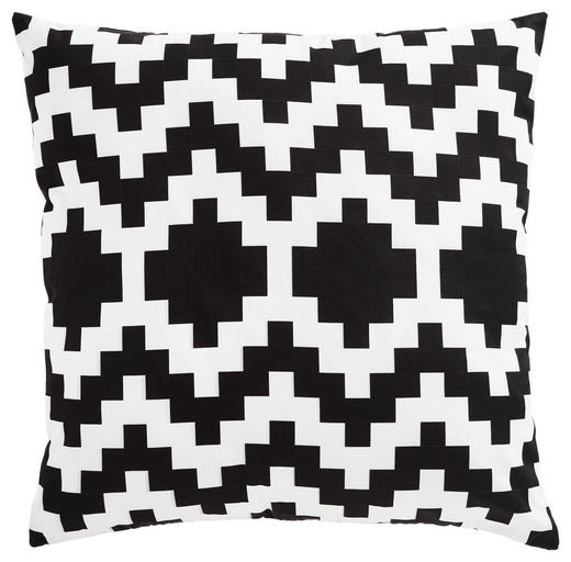 OUTDOOR-KISSEN 45/45 cm - Schwarz/Weiß, Textil (45/45cm)