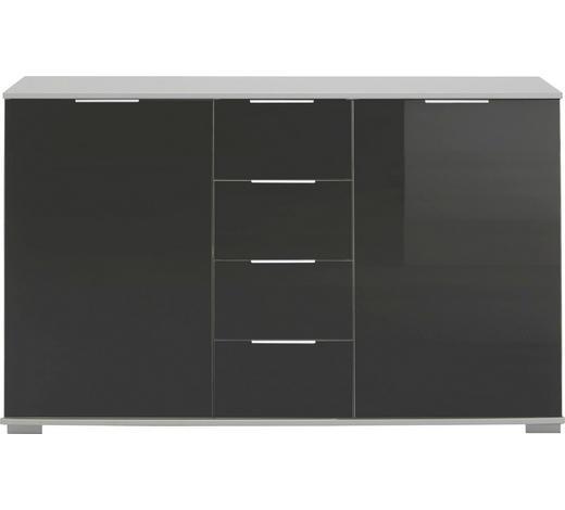KOMMODE 130/83/41 cm  - Chromfarben/Alufarben, Design, Glas/Holzwerkstoff (130/83/41cm) - Carryhome
