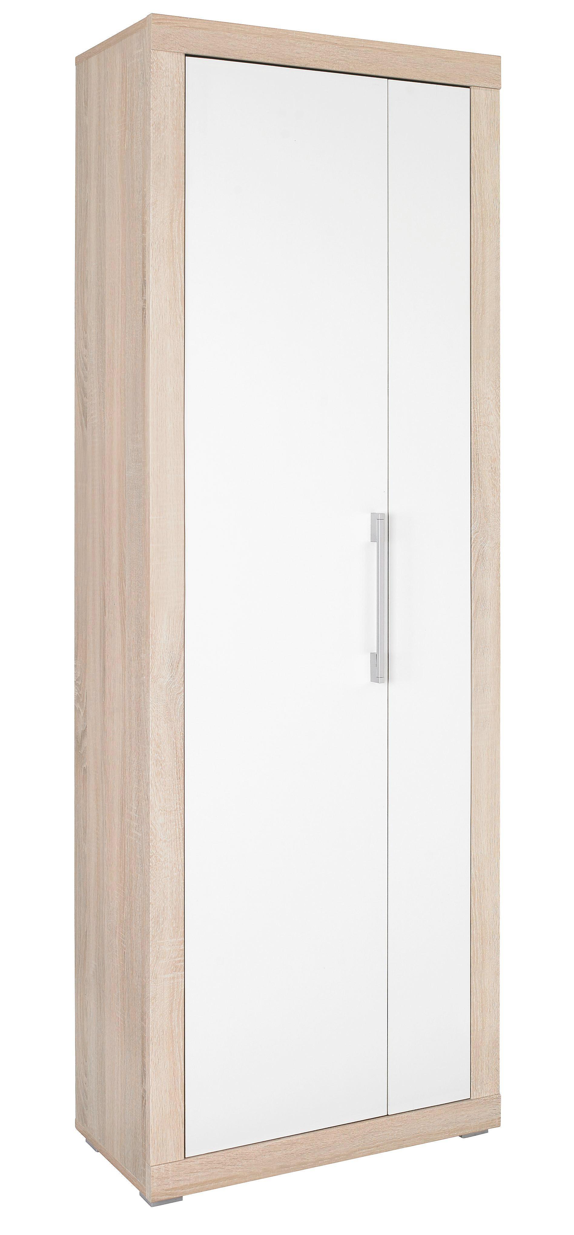 ORMAR - bijela/boje srebra, Design, drvni materijal (69/198/36cm) - BOXXX