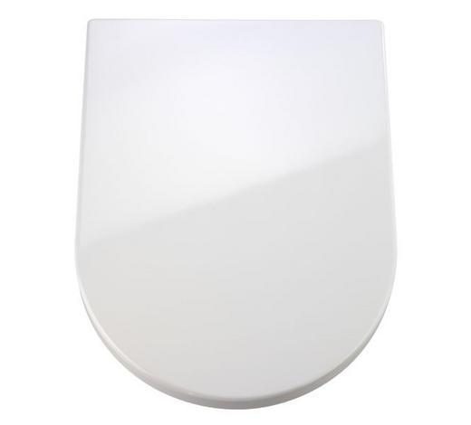 WC-SITZ Weiß  - Weiß, Basics, Kunststoff (34,5/45,5cm)