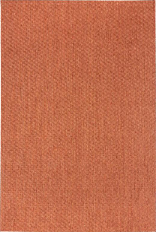 FLATVÄVD MATTA - terrakotta, Klassisk, textil (80/150cm) - BOXXX
