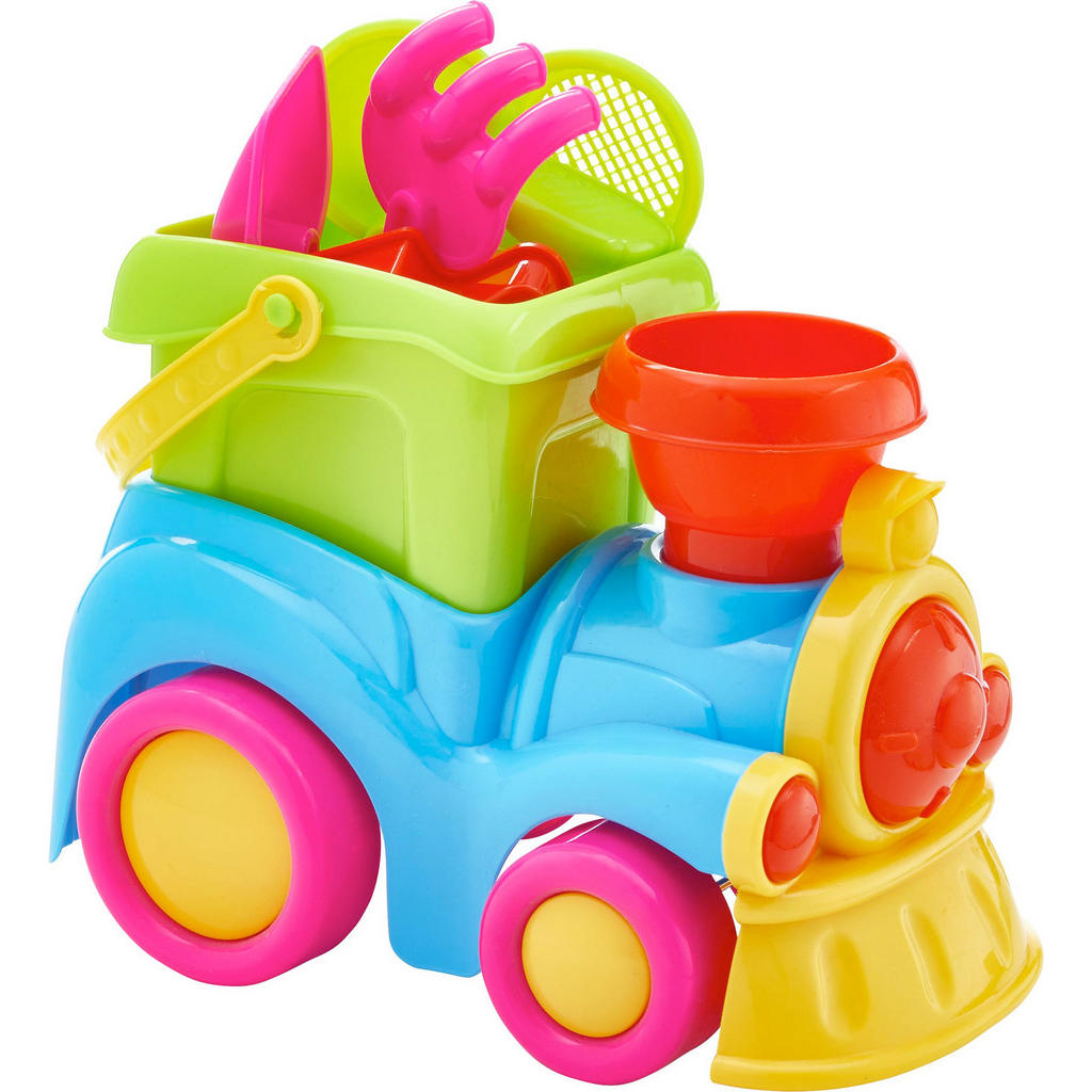 8-teiliges Sandspielzeug 'Lok'