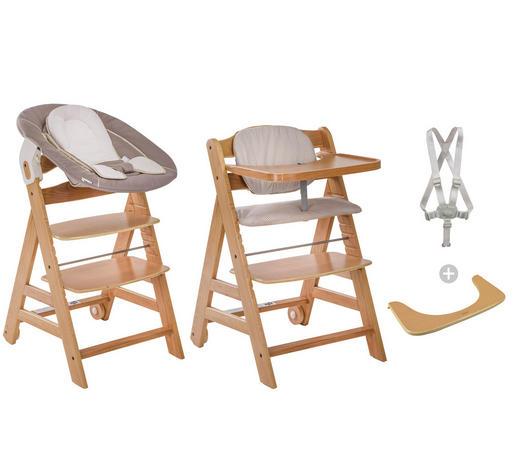 HOCHSTUHL BETA+ MIT BABYSCHALE - Beige/Naturfarben, Basics, Holz (58/48/83cm) - Hauck