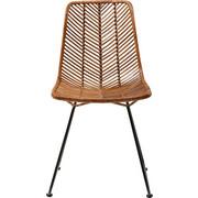 STUHL Rattan Braun, Schwarz  - Schwarz/Braun, Trend, Holz/Metall (44,45/85,73/54,61cm) - Kare-Design