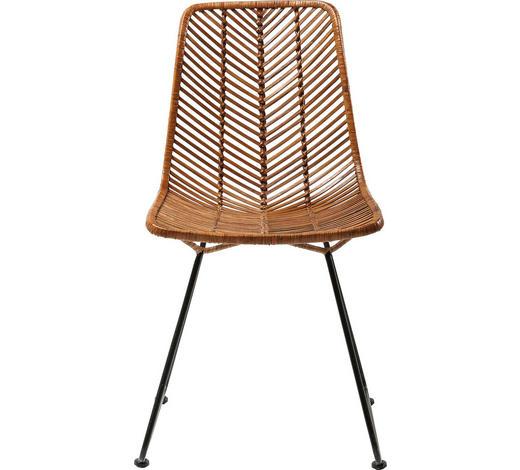 STUHL in Holz, Metall Braun, Schwarz - Schwarz/Braun, Trend, Holz/Metall (44,45/85,73/54,61cm) - Kare-Design
