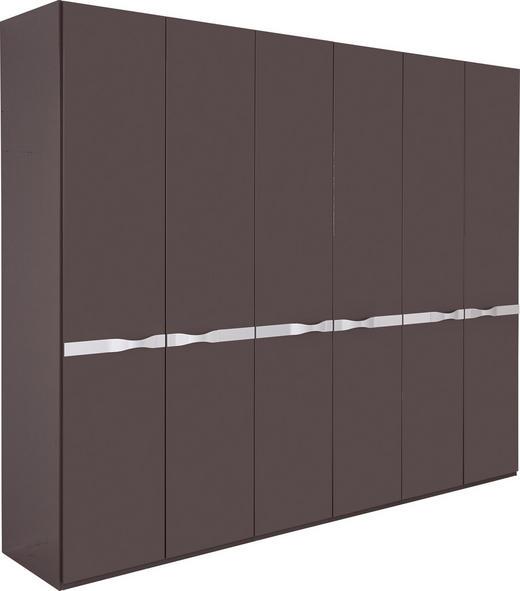 DREHTÜRENSCHRANK in Braun - Braun, Design, Holzwerkstoff/Metall (292,5/238/63cm) - Joop!