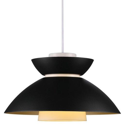 HÄNGELEUCHTE - Schwarz, Design, Kunststoff/Metall (32/19cm)
