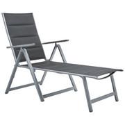 LEŽALJKA VRTNA - siva/boje srebra, Basics, metal/tekstil (70/105/140cm) - Ambia Garden
