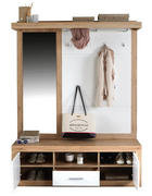 PREDSOBA bela, hrast - bela/hrast, Konvencionalno, leseni material (145/197/36cm) - Xora