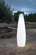 LED STEHLAMPE FREDO 170 - Weiß, Design, Kunststoff (46,5/170cm)