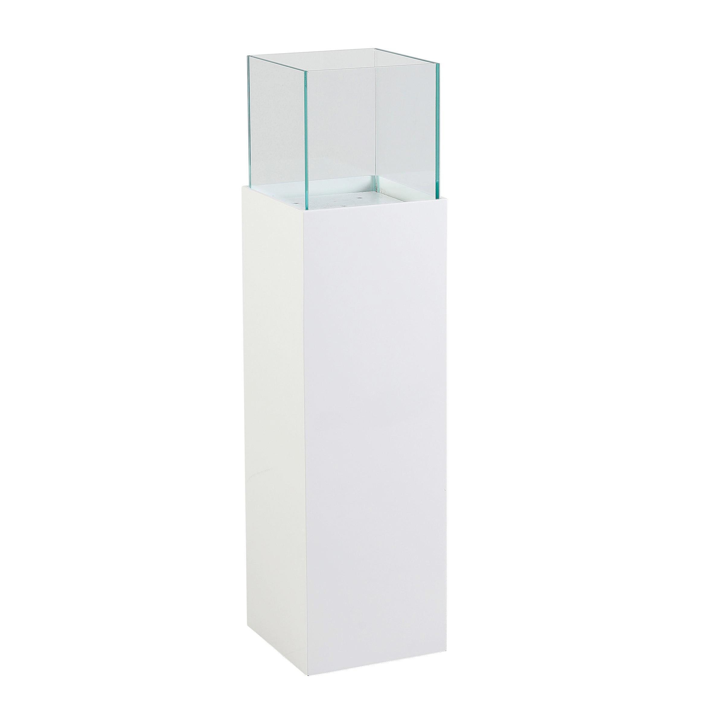 DEKOSÄULE - Weiß, Glas/Kunststoff (20/20/96,80cm)