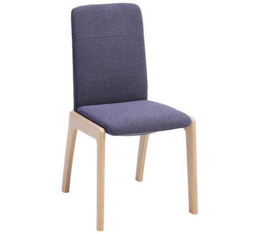 STUHL in Holz, Textil Lila, Eichefarben  - Eichefarben/Lila, KONVENTIONELL, Holz/Textil (50/90/56cm) - Stressless