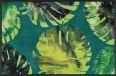 FUßMATTE 50/75 cm Floral Grün  - Grün, Kunststoff/Textil (50/75cm) - Esposa
