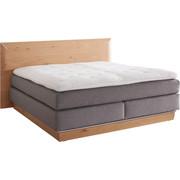 POSTEL BOXSPRING, 180 cm  x 200 cm, dřevo, textilie, šedá, barvy dubu - šedá/černá, Design, dřevo/textilie (180/200cm) - Ambiente by Hülsta