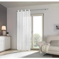 ÖSENVORHANG transparent - Weiß, Design, Textil (135/245cm) - ESPOSA