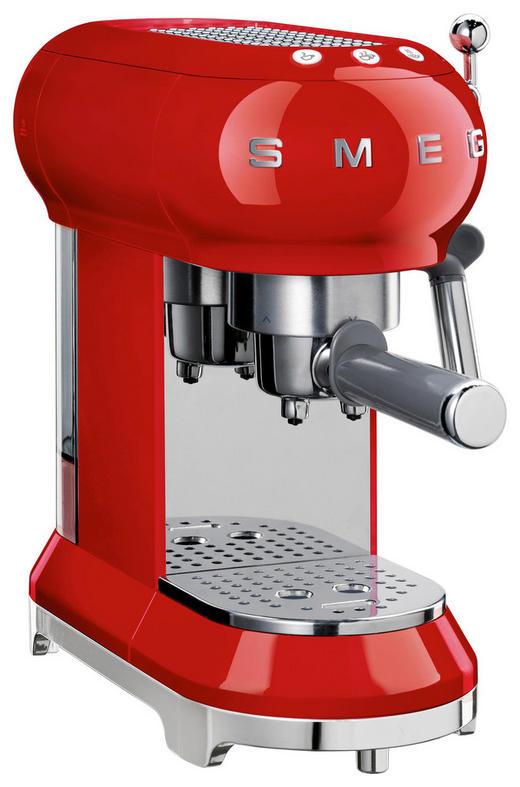 ESPRESSOMASCHINE - Rot, Design, Kunststoff (33/30/15cm) - SMEG