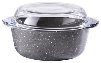 RENDLÍK - tmavě šedá/čiré, Basics (21,8/18,7cm) - Homeware