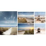 Strand & Meer KEILRAHMENBILD - Multicolor, Basics, Holz/Textil (48/66cm) - Eurographics