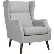 Sessel In Holz Holzwerkstoff Textil Birkefarben Hellgrau Design