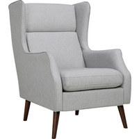 KŘESLO, dřevo, textil, světle šedá - světle šedá/světle hnědá, Design, dřevo/textil (68/92/104cm) - Carryhome