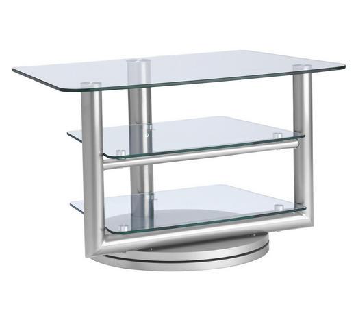 Tv Rack Glas Metall Klar Silberfarben Online Kaufen Xxxlutz