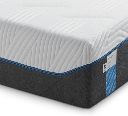 MATRATZE CLOUD ELITE 100/200 cm - Weiß/Grau, Basics, Textil (100/200cm) - Tempur