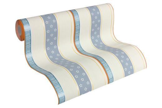 VLIESTAPETE 10,05 m - Blau/Creme, Design, Textil (53/1005cm) - Esprit