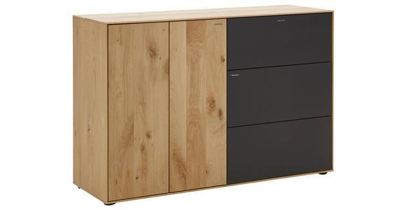 SCHUHSCHRANK 117,5/81/39 cm - Eichefarben/Anthrazit, Natur, Holz/Kunststoff (117,5/81/39cm) - Valnatura